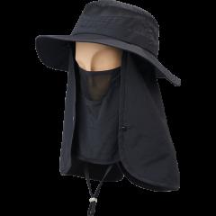 卡蒙护颈遮脸遮阳防晒帽户外钓鱼渔夫帽薄款防紫外线可折叠太阳帽图片