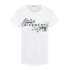 Givenchy 纪梵希 20春夏 女装 服饰 白色圆领经典logo花卉 女士短袖T恤 BW705Z3Z39图片