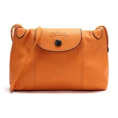 【20春夏新款】Longchamp/珑骧 2020新品女士LEPLIAGECUIR系列羊皮邮差包单肩斜挎包1061757图片