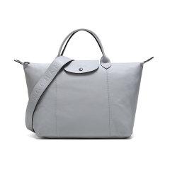 【20春夏新款】Longchamp/珑骧 女士LEPLIAGECUIR系列羊皮中号短柄可折叠手提单肩包 1515 757图片