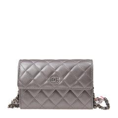 【包邮包税】Chanel 香奈儿 女士黑色羊皮菱格纹LOGO标识单肩斜挎包图片
