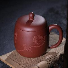 FANJ/梵匠 『静悟杯』 宜兴紫砂杯 带盖杯茶杯子男士泡茶原矿清水泥/紫泥老板杯办公杯 500cc图片