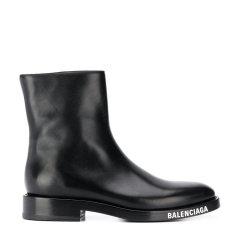 Balenciaga/巴黎世家 20年秋冬 百搭 男性 logo 黑色 男士短靴 590717#WA720#1000图片