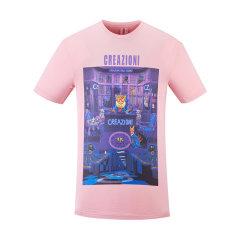CREAZIONI/克莱切尼 20春夏 服饰 男装 圆领 休闲 百搭 男士短袖T恤图片