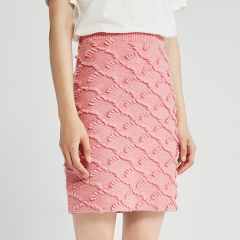 DAZZLE/DAZZLE地素19冬装粉色夏加尔毛衣针织女士半身裙2G4E7021G女士裙装 女装 半裙图片