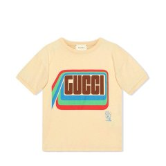 GUCCI/古驰 20年春夏 百搭 男童 logo 儿童T恤 547865XJB4Z图片