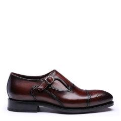 UROK固特异手工男鞋定制英伦布洛克雕花男士头层真皮正装商务皮鞋图片