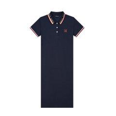 【商场同款】HAZZYS/哈吉斯 2020夏季新款女士连衣裙时尚简约休闲POLO裙AQWSE00BE05图片