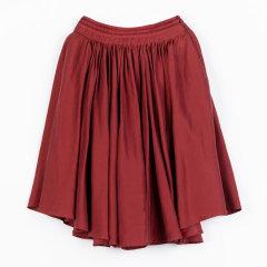 EXCEPTION/例外 原创设计 商场同款亚麻混纺A字裙半身裙-女士半身裙图片