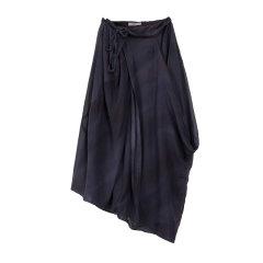 EXCEPTION/例外  原创设计女装桑蚕丝A字裙 不对称优雅中长裙半身裙-女士半身裙图片