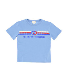 GUCCI/古驰 20年春夏 百搭 男童 儿童T恤 575114XJB5B图片