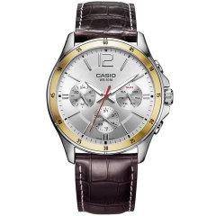 CASIO/卡西欧男士手表商务指针石英钢带防水手表男图片