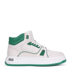 【买赠】ELLE/ELLE 20年春夏 白色高帮休闲鞋经典条纹小白鞋板鞋男鞋图片