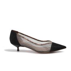【ONTIME】【20春夏】LABER THREE/LABER THREE 细网拼接单鞋 平跟鞋图片