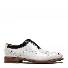UROK布洛克雕花男鞋男式头层牛皮西服皮鞋固特异亮面黑白皮鞋图片