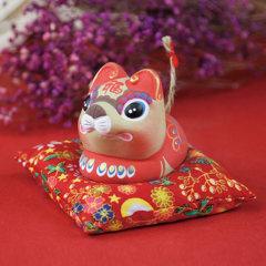 吉兔坊鼠牛兔马羊鸡狗猪创意生肖可爱桌面摆件家居装饰品生日礼物图片
