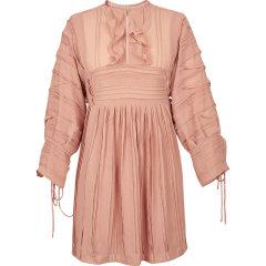 d'zzit/d'zzit地素19夏装法式荷叶边复古茶歇雪纺女士连衣裙3G2O5062连衣裙 裙装 女士裙装 女装图片