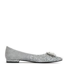 BENATIVE/本那2020年春夏新款平跟鞋钻扣礼服鞋婚鞋单鞋女鞋图片