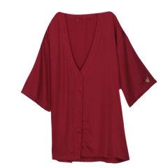 GeleiStory/GeleiStory天丝系列家居服酒红吊带&短睡袍 女睡衣/家居服 2件套  礼物图片