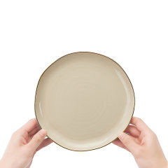 玛戈隆特 行云系列家用平盘汤盘汤菜碗 浅咖色餐具散件自选礼盒装图片