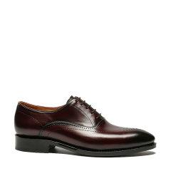 UROK固特异手工定制皮鞋男士真皮正装牛津鞋布洛克雕花奢侈品男鞋图片