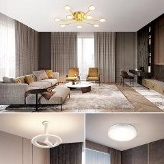 Paulmann/德国柏曼Finn现代简约三室两厅客厅全屋套装灯具组合图片