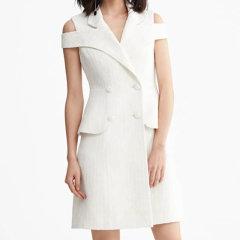 YES BY YESIR/YES BY YESIR叶谦女士连衣裙设计师原创品牌彩色纹路编织尼马甲连衣裙图片