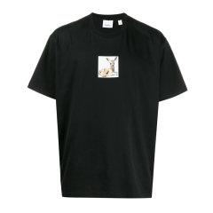 BURBERRY/博柏利 【20春夏】男装 服饰 棉质圆领小鹿图案印花短袖 男士短袖T恤小鹿印花图片