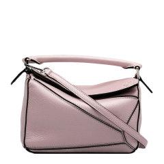 【包邮包税】Loewe/罗意威 20春夏 puzzle系列 女士粉色挎包牛皮手提包单肩包图片