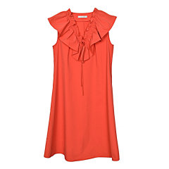 【ONTIME】【20春夏】 KANOE/KANOE 廓形荷叶边无袖连衣裙 女士连衣裙图片