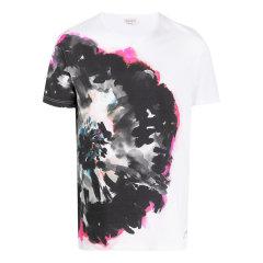 Alexander McQueen/亚历山大麦昆 20年春夏 服装 男性 黑色 男士短袖T恤 609577 QOZ91 0901图片