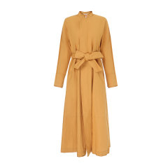 EXCEPTION/例外  原创设计春夏款中式小立领斜门襟宽腰带素雅精致连衣裙女-女士连衣裙图片