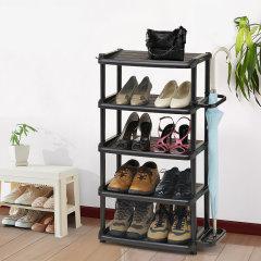 日本进口玄关鞋架   门厅鞋整理架   利快Izumi5层杂物收纳架   鞋靴雨伞杂物置物架  带钥匙扣图片