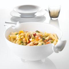 意大利进口果蔬沥水篮   厨房洗菜盆   水果沙拉搅拌碗   利快guzzini厨用淘米筛大容量餐具 可拆分使用 多用途图片