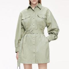 MO&Co./摩安珂女士连衣裙MOCO2020夏季新品腰带收腰工装风连衣裙MBO2DRST06图片