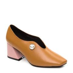 OZWEAR女鞋 牛皮个性异形粗高跟女鞋 单鞋OZ002图片