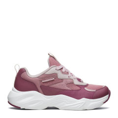 Skechers斯凯奇情侣鞋女鞋复古厚底熊猫鞋休闲鞋运动鞋 66666330-BURG图片