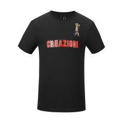 CREAZIONI/克莱切尼 20春夏 服饰 男装 夏季时尚刺绣章简约男士短袖T恤图片