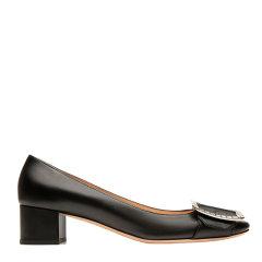 BALLY/巴利【20春夏】皮革浅口女士黑色中跟鞋 JACKIEBLLSF021图片