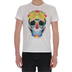 Alexander McQueen/亚历山大麦昆 20年春夏 服装 男性 黑色 男士短袖T恤 611384QOZB6 0901图片