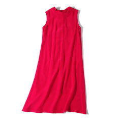 GeleiStory/GeleiStory旅行的意义红色真丝连衣裙 欧美官方网站同步发行女装 女士裙装 女士连衣裙(尺码偏小一码)图片