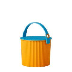 日本进口多功能收纳桶      炫彩桶带盖储物凳水桶         利快Hachiman户外便携储物桶钓鱼桶 (承重150kg)图片