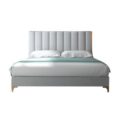 GeleiStory/GeleiStory轻奢布艺床后现代简约高背床 双人卧室软体家具经济型1.8米公主床图片