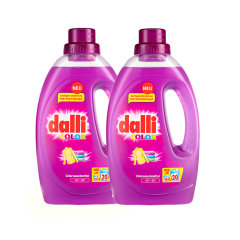 dalli/达丽 德国进口专业区分颜色衣物清洗护色固色护理 家庭装洗衣液 2瓶套装图片