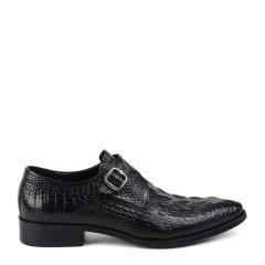 LANDAX/LANDAX 20新款牛皮男士商务正装鞋 扣带套脚皮鞋 手工男鞋图片