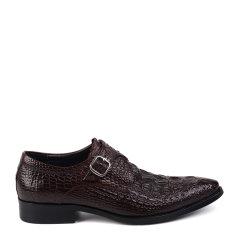 LANDAX/LANDAX 新款男士商务正装皮鞋 英伦风扣带套脚男鞋图片