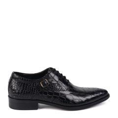 LANDAX/LANDAX 新款男士商务正装鞋 牛皮复古尖头皮鞋 英伦手工皮鞋图片