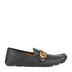 GUCCI/古驰 男士GG金属logo休闲鞋皮鞋驾车鞋乐福鞋豆豆鞋男鞋图片