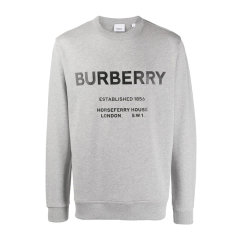 BURBERRY/博柏利 20秋冬 男装 服装 棉质LOGO标识长袖运动衫 男卫衣图片