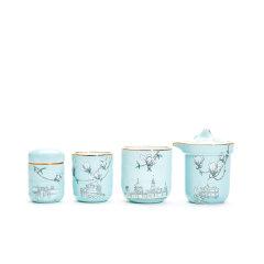 玛戈隆特 行云系列一壶两杯便携旅行茶具 6头功夫茶具套装家用图片